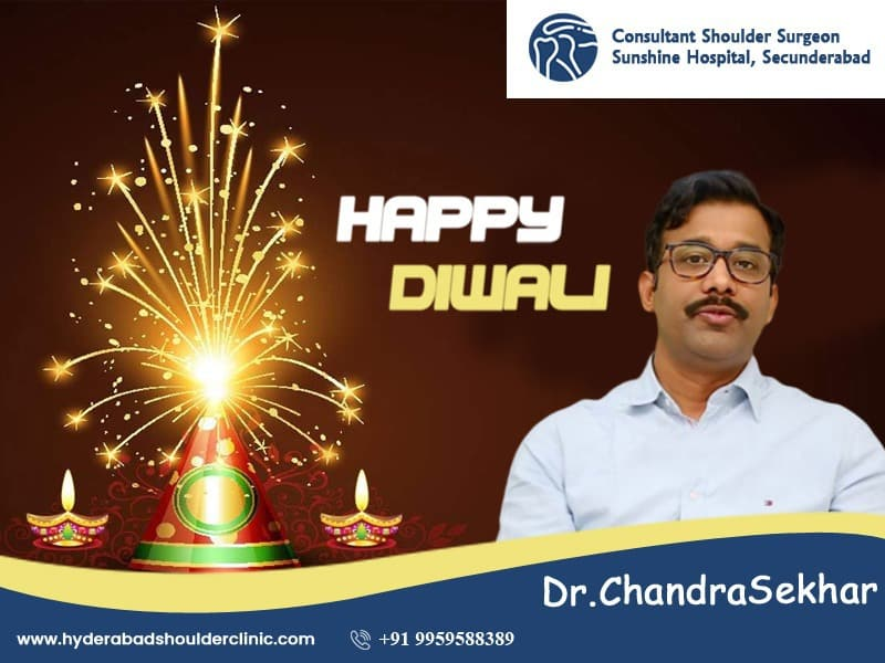 Diwali Wishes by Hyderabad Shoulder Clinic, One of the best Orhopedic specialty hospital in hyderabad