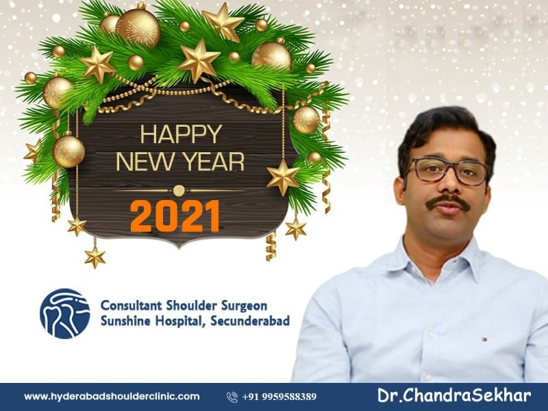 The best Happy New Year wishes by Dr. Chandra Shekar B, One of the best Shoulder dislocated surgeons in Hyderabad