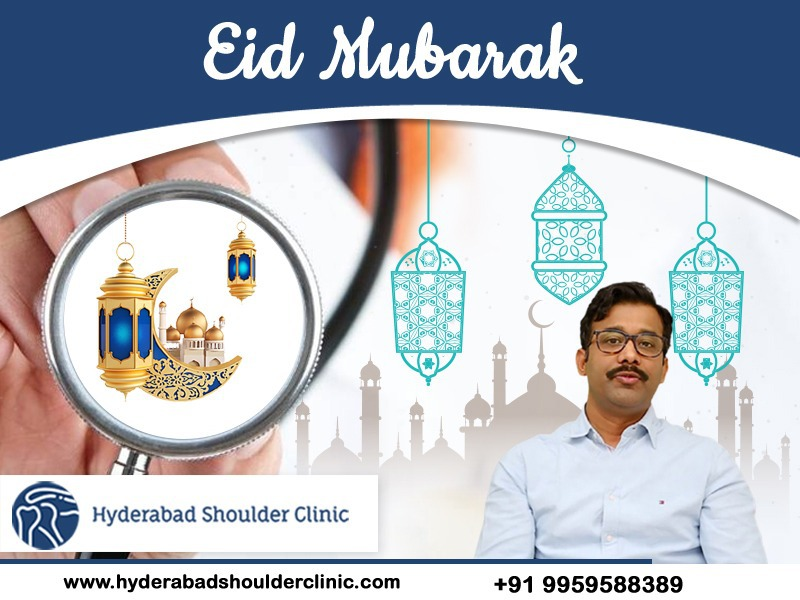 Bakrid Mubarak wishes by Dr. Chandra Sekhar, One of the best shoulder surgeons in Hyderabad