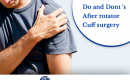 Do And Don'ts After Rotator Cuff Surgery