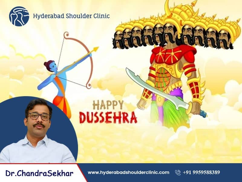 Dussehra Wishes by Hyderabad Shoulder Clinic, one of the Orthopedic Centre in Hyderabad