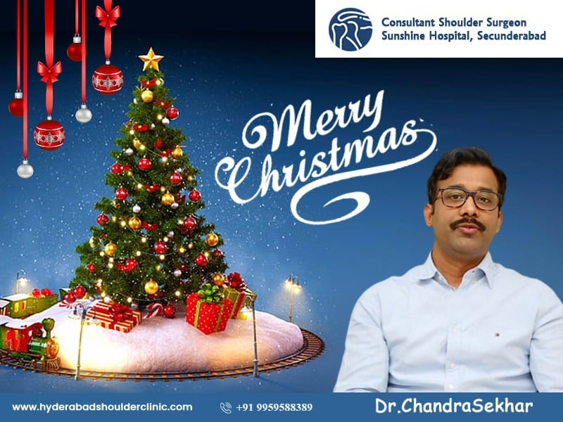 The best Happy Christmas wishes by Dr. Chandra Shekar B, One of the best Shoulder replacement surgeons in Hyderabad